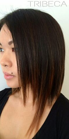 Shattered Bob #TribecaColorSalon #womenshair #colorspecialist