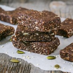Hemp Protein Date Bars - These hemp protein date bars are a healthy, no bake snack that are dairy free, gluten free, nut free, and vegan!