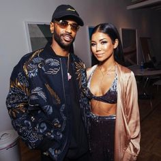 Big Sean Steps Out With Jhene Aiko Wearing Ports 1961 Jacket
