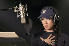 """Renée Zellweger voices the role of Angie for the animated movie """"Shark Tale"""", 2004."""