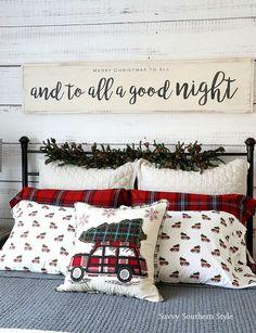 The Christmas Farmhouse Style Bedroom