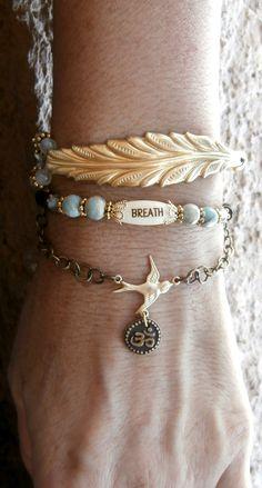 Breath Meditation wrap Terra Jasper Quartz Om by LifeForceEnergy