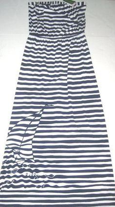 LILLY PULITZER Small EMMETT Navy Striped YACHT YARD Strapless MAXI Dress NWT S #LillyPulitzer #Maxi #SummerBeach