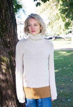 Diner genser strikket i baby alpakka. Turtle Neck, Pullover, Knitting, Sweaters, Baby, Fashion, Moda, Tricot, Fashion Styles