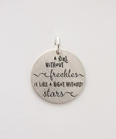 Sterling Silver 'Freckles and Stars' Charm