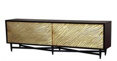 """Tallinn Buffet - Style no. 722 Buffet with cast resin doors 96""""W x 18""""D x 30""""H Available in all Ironies wood nishes Doors available in gold leaf or silver leaf nish"""