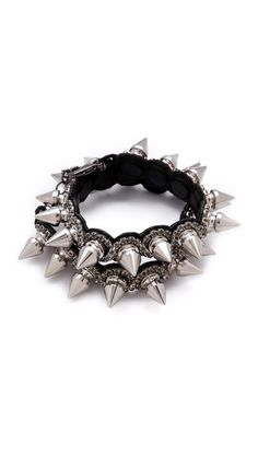 Deepa Gurnani Double Spike Cuff. I would put my own eye out for sure, but I love it.