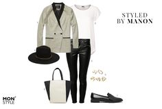 Styled by Manon #14: casual chic, Scotch & Soda blazer, Vero Moda top, Only pants, Asos hat, Asos rings, Warehouse bag, Pull&Bear loafers