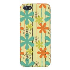 Pretty Flower Beads Art Blue Orange Green Brown Cases For iPhone 5