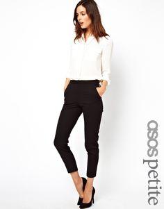 ASOS PETITE Skinny Trousers with Zip Detail