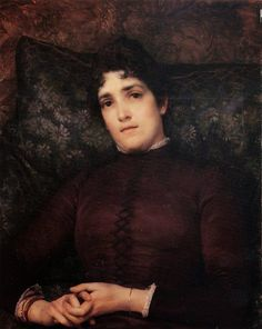 Mrs Frank D Millet by Sir Lawrence Alma-Tadema - Reproduction Oil Painting Lawrence Alma Tadema, Pablo Picasso, Frank Dicksee, John William Waterhouse, Sir Francis, Thing 1, Inspirational Artwork, Art Database, Oil Painting On Canvas
