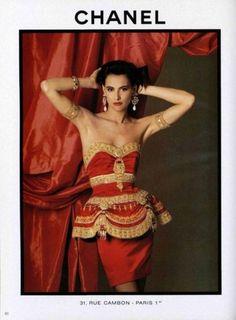 Ines de la Fressange for Chanel 1990