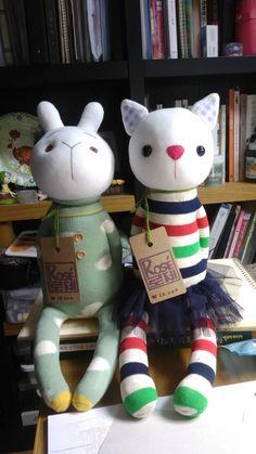 rabbit & cat socks doll i love it...