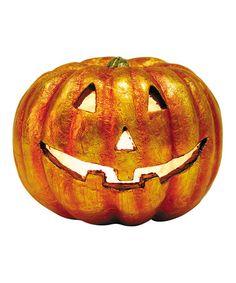 Love this Medium Light-Up Pumpkin Figurine on #zulily! #zulilyfinds