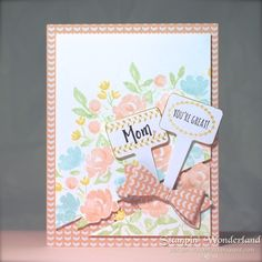 Stampin' Up!  Painted Petals  From The Garden  Bow Builder Punch スタンピンアップ