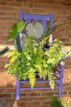 Hanging planter chair