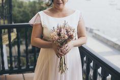 Cristina con vestido rosa de princesa de Novelle