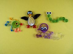 quilling | These little crafts were made in no time at all and a certainly a cute ...