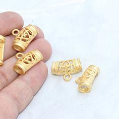 2 pcs inner 5,5mm tubes en or tubes connecteurs, perles de métro, pendentif, pendentif tube, connecteurs, brt125