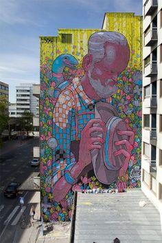 Third update of urban graffiti art for September 2013 // See more street art online from urban artist Mr Pilgrim among other of the world's graffiti artists 3d Street Art, Murals Street Art, Street Art Graffiti, Graffiti Artwork, Urban Street Art, Amazing Street Art, Art Mural, Street Artists, Graffiti Artists