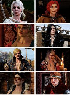 Ciri, Triss, Priscilla, Yennefer, Ves, Keira, Philippa and Ceris
