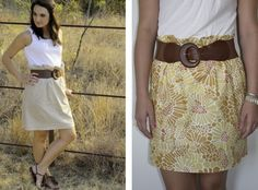 Sew Caroline: Paper Bag Skirt DIY @Miranda Marrs Marrs Campbell : Option for a sewing project!