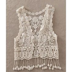 Sweet Women's V-Neck Sleeveless Hollow Out Lace Capelet #shoes, #jewelry, #women, #men, #hats