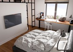 A Beautiful One Bedroom Bachelor Apartment Under 100 Square Meters (With Floor Plan)