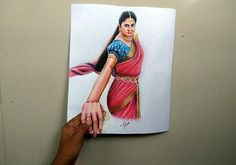 www.youtube.com/3dart4you 3d Drawings, Realistic Drawings, Colorful Drawings, Prabhas And Anushka, Bahubali 2, Art 3d, Telugu, Warriors, Scene