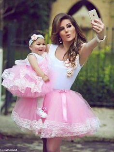New Tutu Skirt Mother Daughter Pink Dresses Women Lace Beach Bohemian Party Gown in Clothing, Shoes & Accessories, Women's Clothing, Dresses Mother Daughter Dresses Matching, Mother Daughter Fashion, Mom Daughter, Daughters, Mama Baby, Mom And Baby, Baby Girls, Baby Boy, Flower Girls