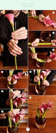 Como montar arranjos em muranos usando espuma floral  (Foto: Julio Acevedo)