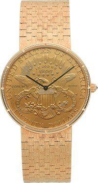 Corum Velmi jemný $ činí 20 zlatých mincí hodinky