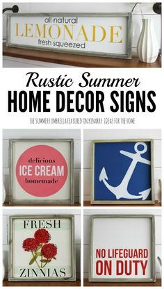 You should enter this giveaway. Why? Because it'll give you a chance at winning a $50 credit in my shop! May 16 - 31 http://thesummeryumbrella.com/2016/05/summer-home-decor-signs-rustic-modern-look/?utm_campaign=coschedule&utm_source=pinterest&utm_medium=The%20Summery%20Umbrella&utm_content=Summer%20Home%20Decor%20Signs%20for%20a%20Rustic%20Modern%20Look%20%2B%20GIVEAWAY