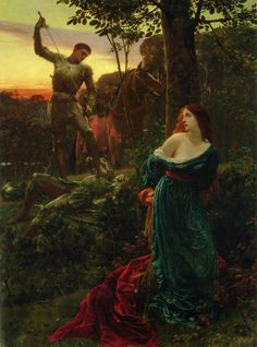 """Painting of the Day! Frank Dicksee (1853-1928) """"Chivalry"""", Oil on Canvas, 1885. - To see more works by this artist please visit us at: http://www.artrenewal.org/pages/artist.php?artistid=29"""