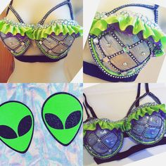 Alien Space Babe Bra ($70) ❤ liked on Polyvore featuring intimates, bras, black, lingerie, women's clothing, black bra, black lingerie and lingerie bras