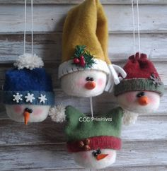 Primitive Pattern  Primitive Adorable Snowmen por CCCPrimitives