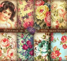 Delicate Floral Digital Paper Pack. Floral Digital by DianaGarden, $4.50