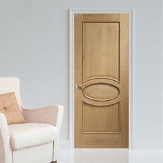Bespoke Calabria Oak Panel Door with Raised Mouldings.  #calabriaoakdoor #internaloakdoor #bespokedoor