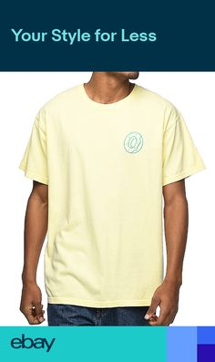 11c15a72a555 Odd Future Wolf Gang Lone Donut Embroidered OFWGKTA NWT Authentic Rare  Yellow