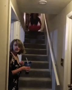 A quick way to go down stairs