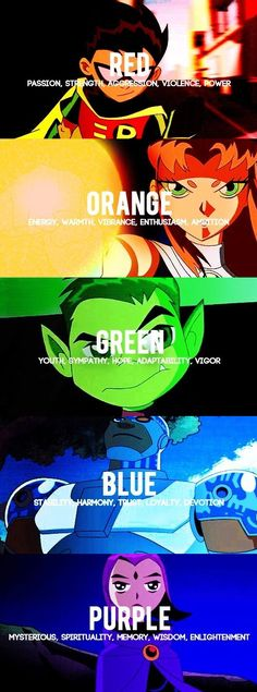 I absolutely love how their main colors correspond to their actual personalities. DC left nothing unaccounted for in creating their characters