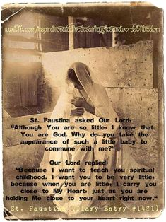 Catholic Quotes, Catholic Prayers, Catholic Saints, Religious Quotes, Roman Catholic, St Faustina, Faustina Kowalska, Faith Of Our Fathers, Les Religions