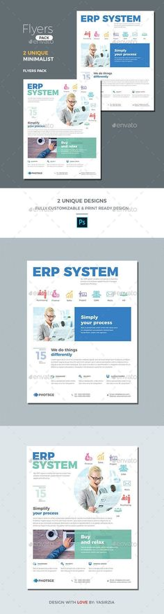 Buy ERP Flyer Templates by germanxpert on GraphicRiver. ERP Flyer Design for promoting software application or web application campaign. These flyers can be used for any cor. Corporate Website Design, Corporate Style, Corporate Flyer, Creative Flyers, Creative Business, Poster Design Software, Flyer Design, Web Design, Business Flyer Templates