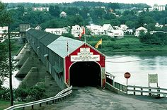 Bridge The worlds longest covered bridge, located at Hartland, New Brunswick (photo by J. East Coast Travel, East Coast Road Trip, New Brunswick Canada, Old Bridges, Prince Edward Island, Old Barns, Covered Bridges, Canada Travel, Countries Of The World