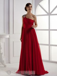 Elegant A-Line Floor-Length One-Shoulder Prom/Evening Dress : Tidebuy.com