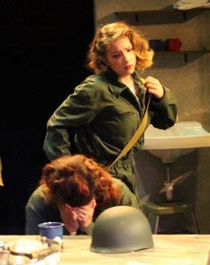 """production still of """"Cry Havoc"""" at Bakersfield Community Theatre."""