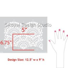 small spanish lace furniture stencil