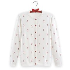 Embroidered Candy Cane Cardigan - Best Selling Gifts, Clothing, Accessories, Jewelry and Home Décor