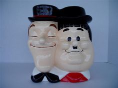RARE Vintage Laurel and Hardy Cookie Jar | eBay