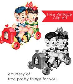Vintage Clip Art: Adorable Vintage Children